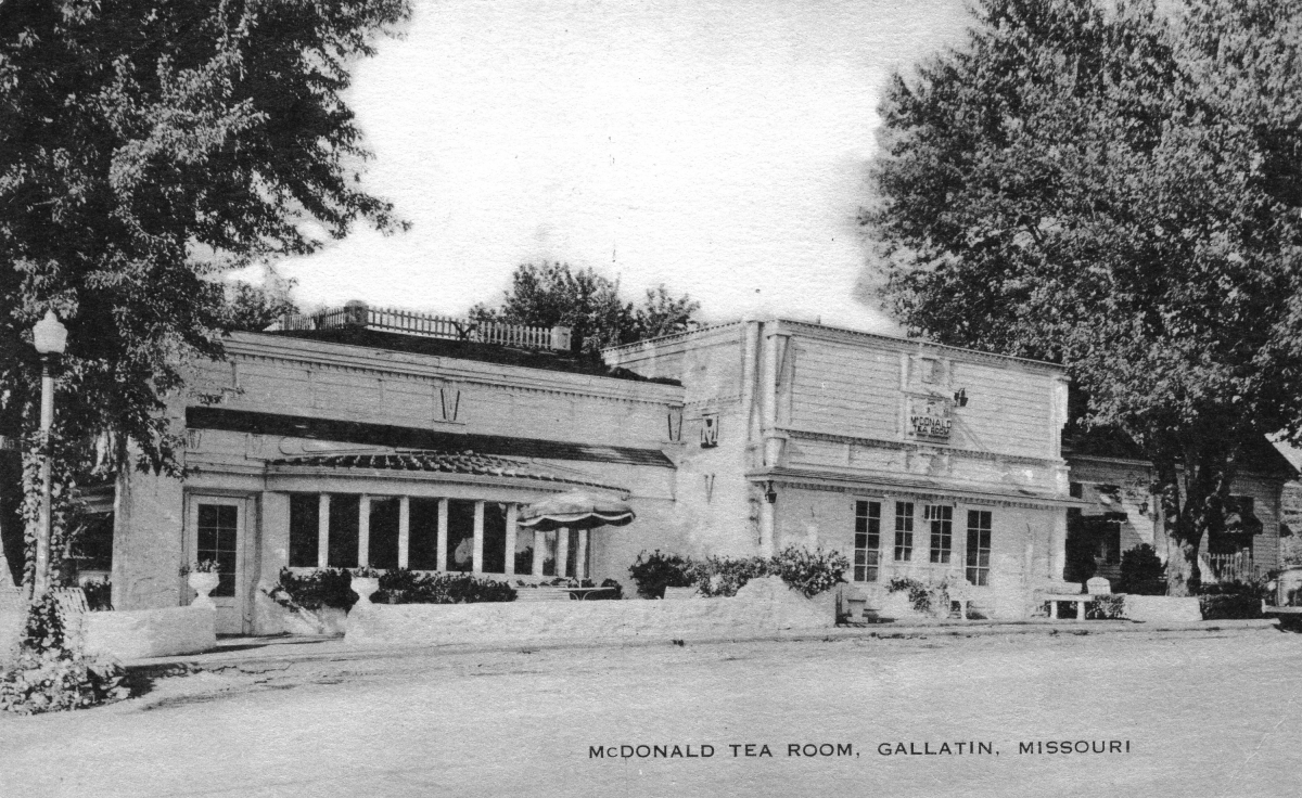 McDonald Tea Room Postcard