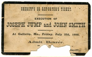 Crime - Hanging Ticket 1886